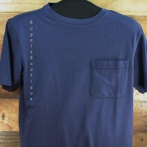 Outdoor Life Plain blue Pocket T-shirt Cotton Sz S